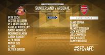 Sunderland v Arsenal starting line-ups
