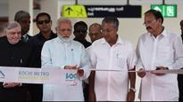 In Pics: Prime Minister Modi inaugurates multi-model Kochi metro rail