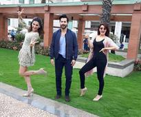 Varun, Jacqueline and Taapsee goof around during promotions in Hyderabad