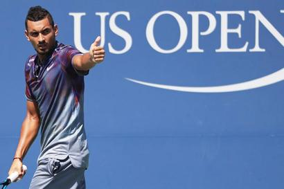US Open: Kyrgios on another self-berating spree after 2nd round loss