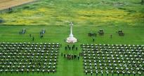 Irish Protestant and Catholic church leaders hold joint service in the Somme
