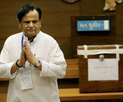 Ahmed Patel wins Gujarat RS seat in nail-biting contest