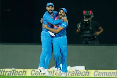 3rd T20 PIX: Bowlers star as India down Kiwis in thriller to clinch series