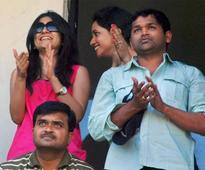 Snapshot: Cheteshwar Pujara's wife seen cheering him wildly on the stands