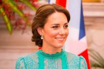 Kate Middleton steps out in another stunning Alice Temperley gown in New Delhi