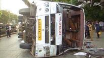 Mumbai: One dead, 34 injured after luxury bus overturns near Dadar circle
