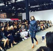 London Fashion Week: Victoria's Secret Angel Taylor Hill smoulders in Topshop Unique show