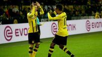 Borussia Dortmund 4 Borussia Monchengladbach 1: Aubameyang at the double as Tuchel's men run riot