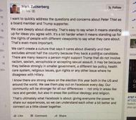 Facebook triples down on Peter Thiel
