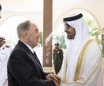 His Highness Sheikh Mohamed bin Zayed holds t...