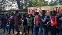 On Valentine's Day eve, DU students, teachers rally for 'Love Without Fear'