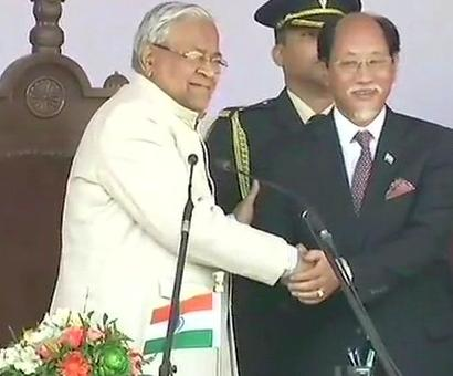 Neiphiu Rio takes oath as Nagaland CM