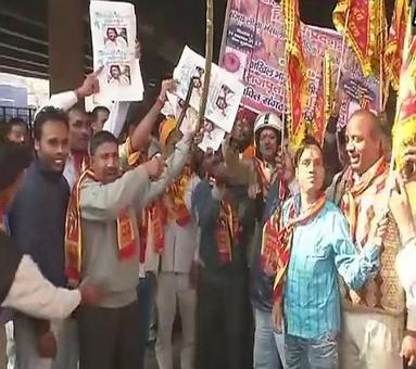 Rajputs protest in Delhi