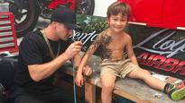 New Zealand artist's airbrushed tattoos is sure to give sick kids a smile