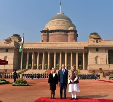 Grand welcome at Rashtrapati Bhavan, visit to Rajghat: Netanyahu on Day 2