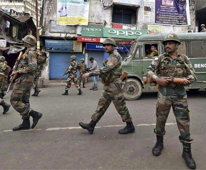 Rajnath Singh appeals for peace as GJM supporters take out silent protest