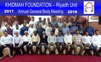 Riyadh: Khidmah Foundation forms new committe at annual general body meet
