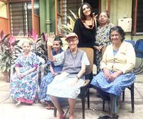 Ankita Lokhande visited Old Age Home