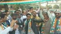 Congress workers in Amethi celebrate Rahul Gandhi's elevation as party president