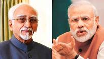 PM Modi's jibe at Hamid Ansari proves he is the commander of troll-brigade: Opposition