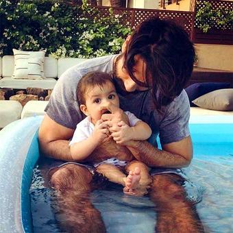 PIX: Shahid Kapoor's pool time with Misha