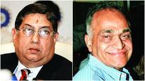 N Srinivasan, Niranjan Shah, Rajiv Shukla barred from BCCI SGM