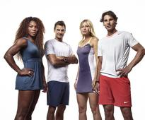 Sharapova, Williams, Federer, Nadal Appear in Tennis Exibition