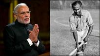 Prime Minister Narendra Modi pays tribute to hockey legend Dhyan Chand on his birth anniversary