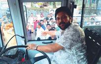Ganesh Kumar turns bus driver for KSRTC service inauguration