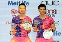 China's Fu/Zhang win badminton men's doubles in Singapore Open