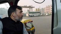 Delhi Transport Minister Gopal Rai boards DTC bus to inspect 'odd-even' rule