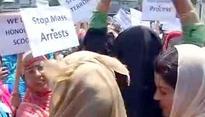 NC women wing protest against Major Gogoi