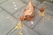 Who dropped KFC feast on pavement? Twitter hunt for person responsible for spilled chicken and chips meal