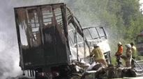 Eighteen dead and 30 injured after tourist coach crashes and bursts into flames on German autobahn