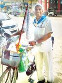 Age no bar; Retd policeman sets out for a 1100-km ride on his bicycle