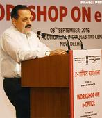 Jitendra Singh addresses the workshop on e-Office organised by DARPG