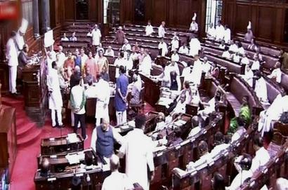 Uproar in Rajya Sabha over UP gang rape