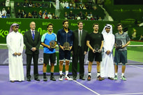Feliciano and Marc show class to bag doubles t... The Spanish pair in Feliciano Lopez and Marc Lopez, winners of the Doubles t...