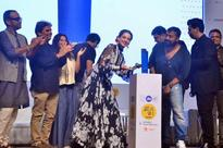 Kangna Ranaut Unveils The Trophy At Jio MAMI 18th Mumbai Film Festival