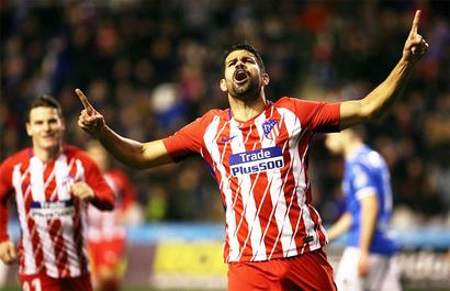 Costa back with a bang as Atletico thrash Lleida in King's Cup