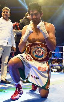 Vijender wins WBO Asia Pacific super middleweight title