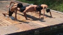 Chips of the old block: This pic of Hrithik Roshan doing push-ups with his sons is just awwww