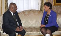 Mangala meets Commonwealth Secretary-General