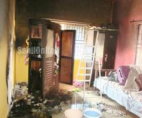 Short circuit causes damage to a house in Bhatkal