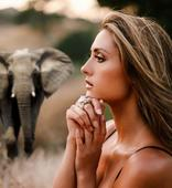Filmmaker, Founder of Non-Profit Peace 4 Animals Katie Cleary Presents Stunning New Elephant Conservation Ring for Holidays to Protect Endangered African Elephants