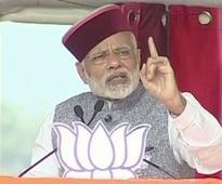 PM Modi addresses public rally in Himachal Pradesh's Una