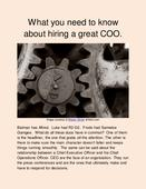 What you need to know about hiring a great COO.