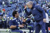 Russell Wilson and Pete Carroll look completely stunned after missed extra point