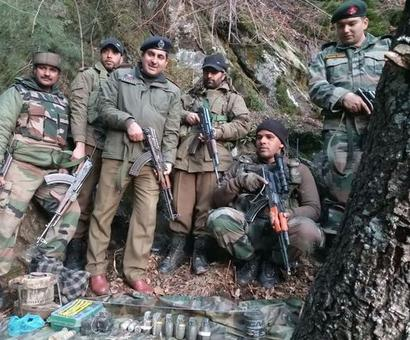 Security forces bust terror hideout, arms and ammunition recovered