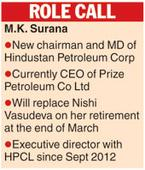 HPCL gets new chief